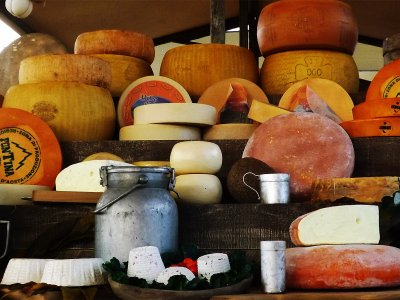 Top-4 original cheeses in Milan