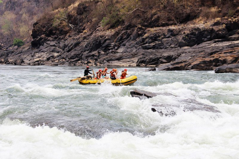 Rafting on Zambezi River, Livingstone