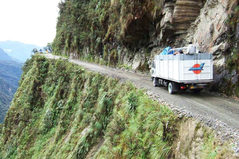 Difficulties on the Death Road, La Paz