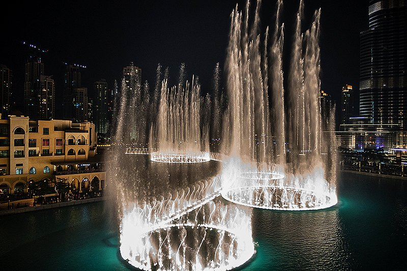 The singing fountains, Dubai