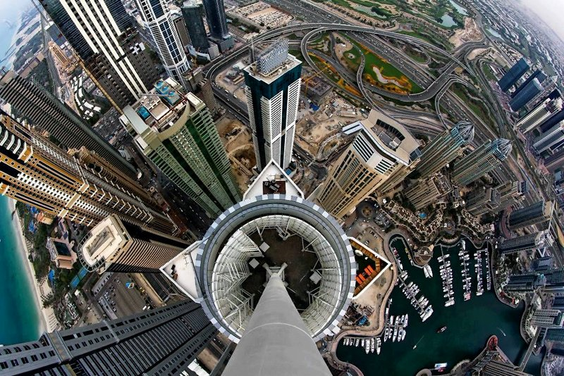 View from the very top, Dubai