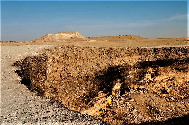Darvaza crater at the daytime, Ashgabad