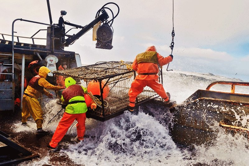 Crab fishing in the Bering Sea., Juneau