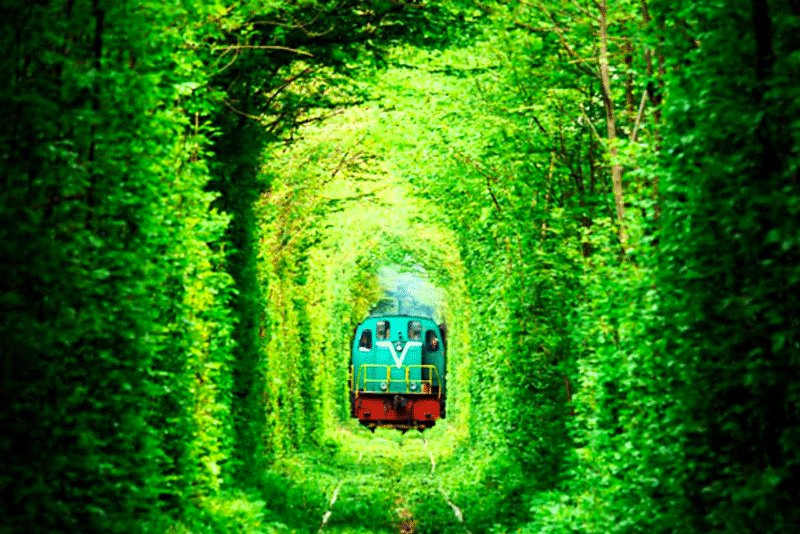 Previously, a train went through the Tunnel of Love, Rovno