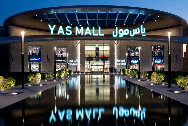 Yas Mall at night, Abu Dhabi