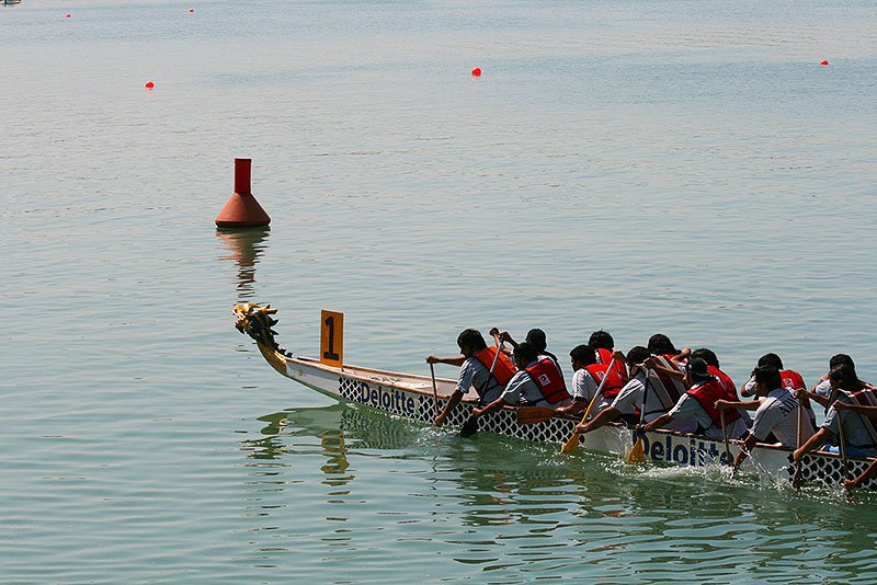 Roces on dragon boats, Abu Dhabi