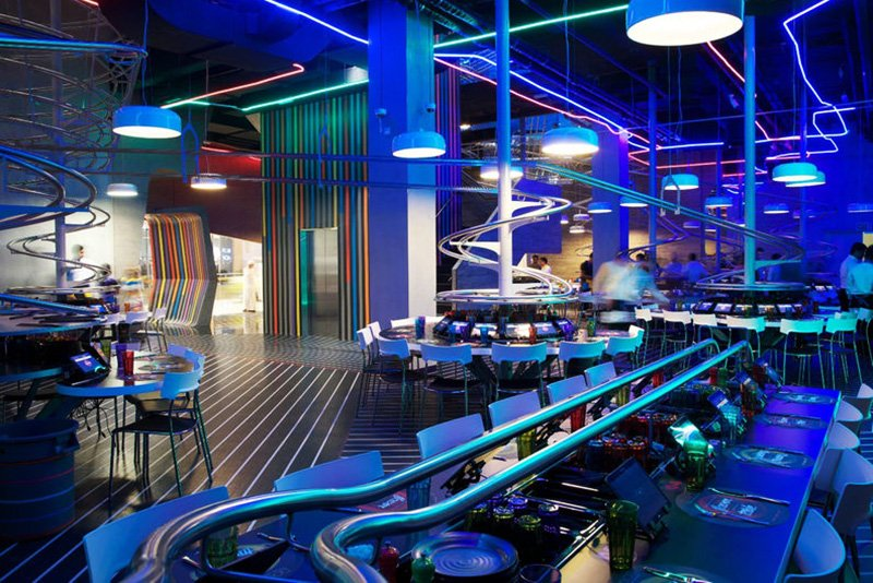 The roller coaster restaurant, Abu Dhabi