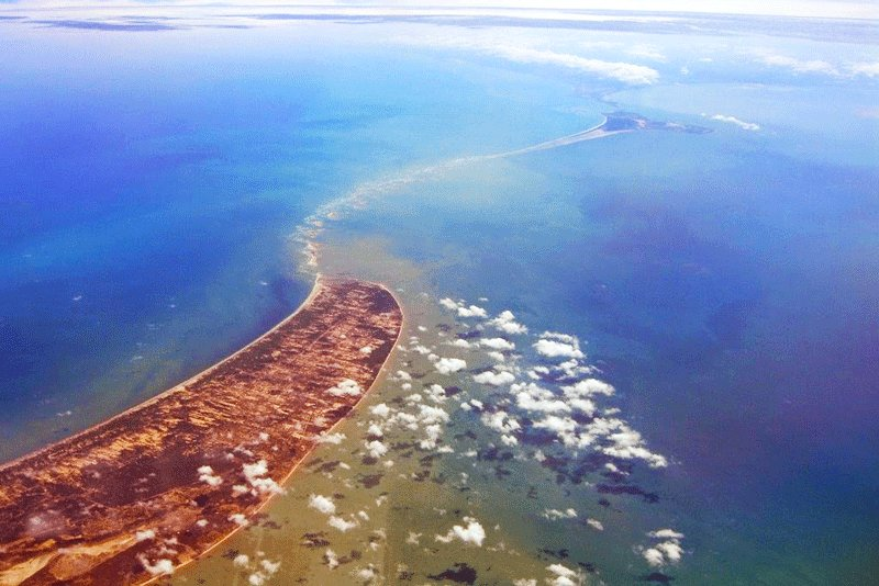Adam's Bridge bird's eye view, Mannar