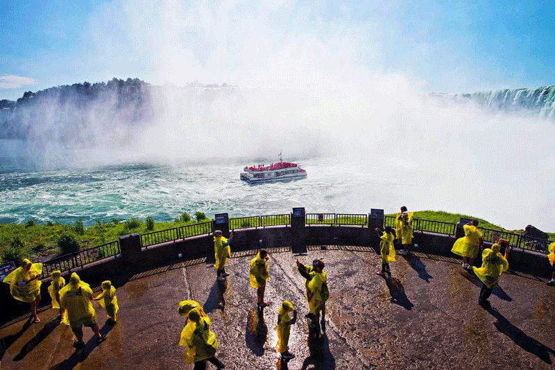 "Niagara Falls, You can get to the waterfall on ""The Maid of the Mist"", Toronto"