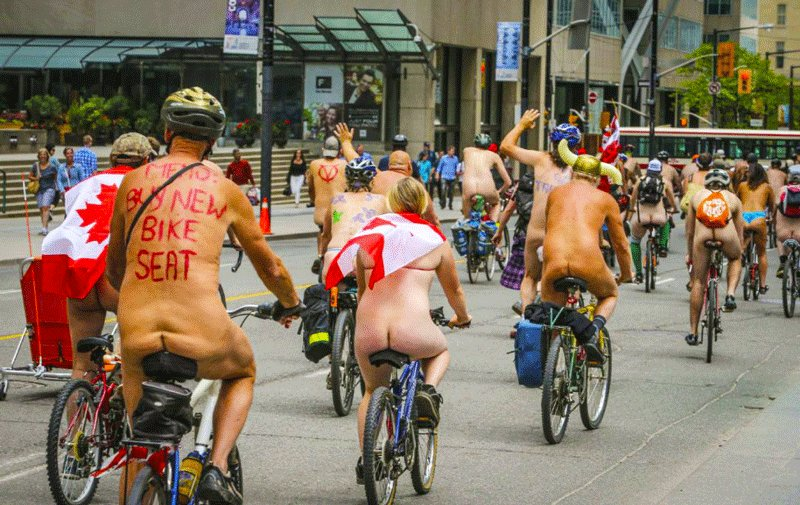 Toronto, World Naked Bike Ride against oil dependence, Toronto