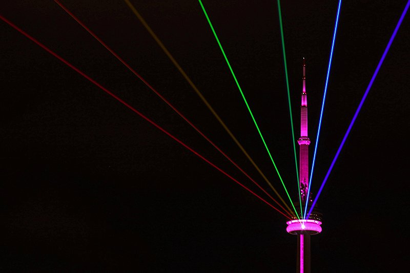Rainbow installation from Nuit Blanche, Toronto