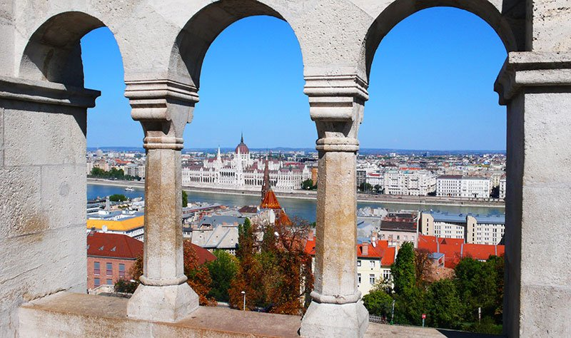 Fisherman's Bastion view, Budapest