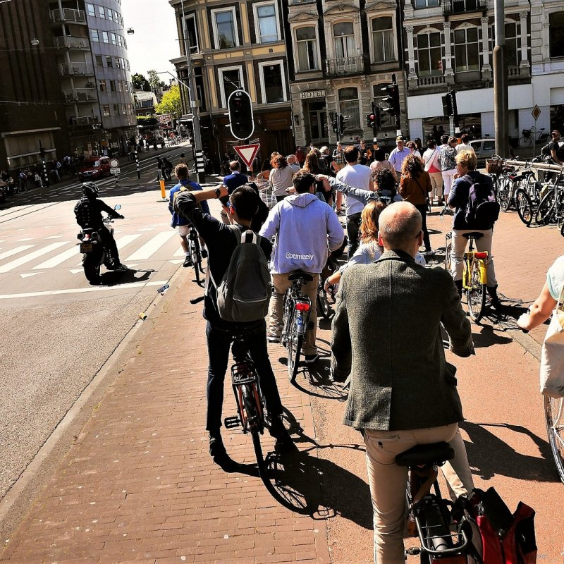A line before traffic light, Amsterdam