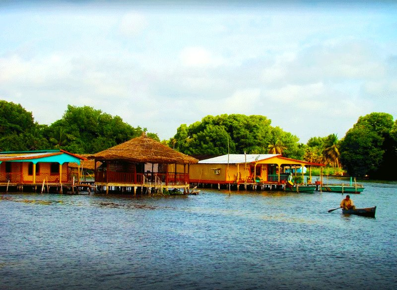 Floating houses on Catatumbo river, Maracaibo