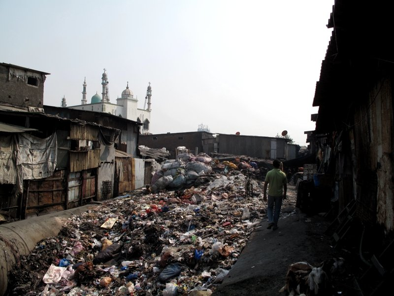 Mountains of garbage in Dharavi