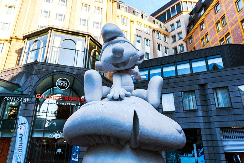 Did you know that Smurfs are originally Belgians?, Brussels