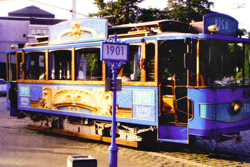 The very first Riga tram had only 1 tram-car, Riga