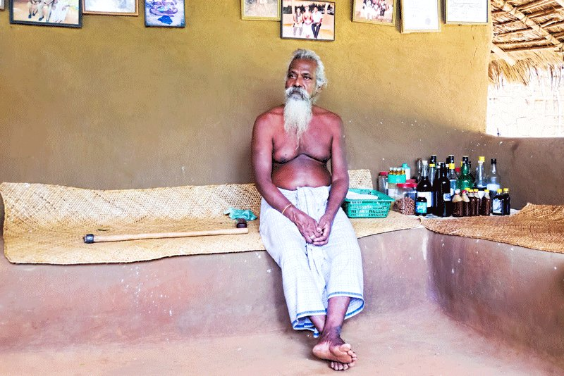 The Veddas tribe chiefs are public figures. Giving interviews and visiting conferences are their common practice, Kandy