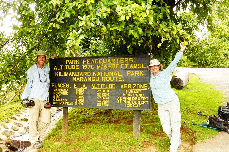 Check points on the way to summit, Arusha