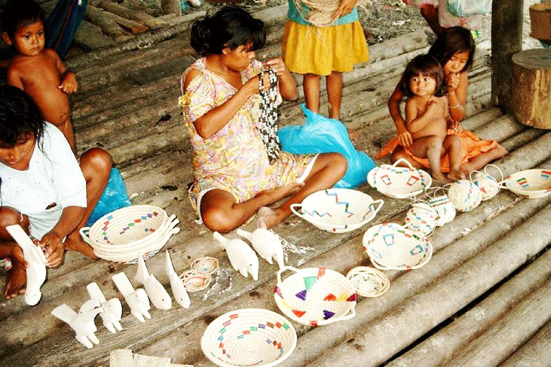 Buy warao souvenirs made of wood balsa and palm trees moriche, Maturin
