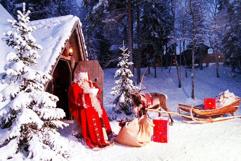 You can send letters to Santa with your Christmass wishes, Rovaniemi