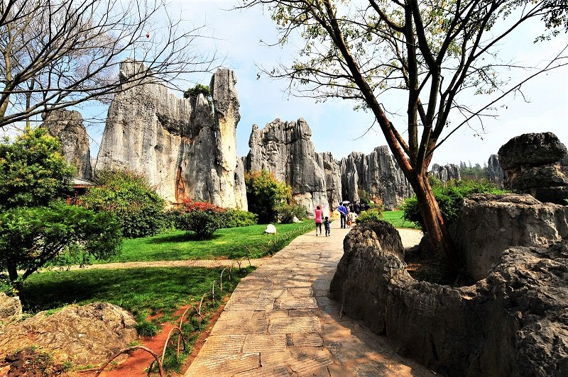 walking path in the stone forest, Kunming