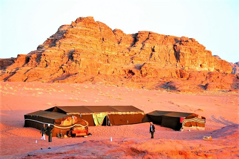 Breakfast is included in bedouin camp accommodation, Aqaba