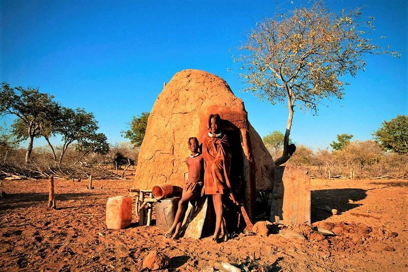 Himba mud hut, Opuwo