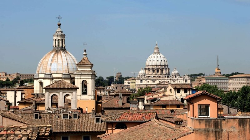 View from the terrace of the hotel Genio? Rome