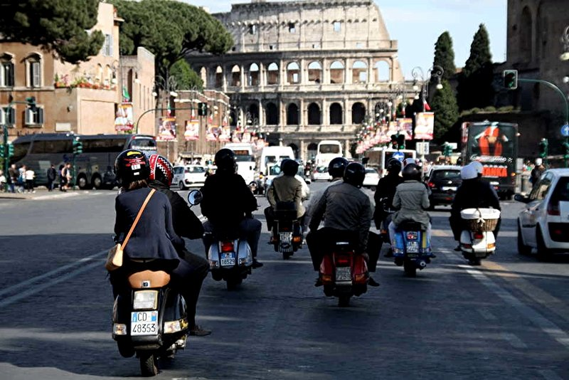 Rome on scooter