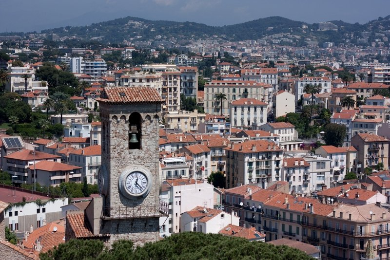 Clock-tower on Le Suquet hill