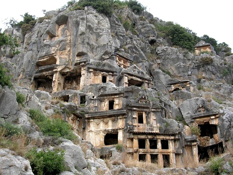 Ancient buildings on the mountain