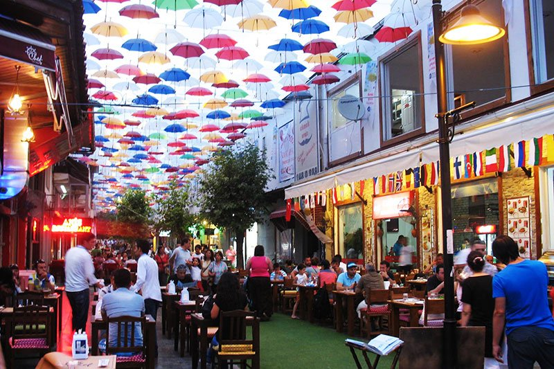 Cafes on Umbrella street