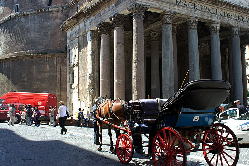 Rome on a horse carriage