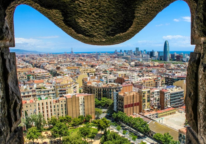 View of the city from Sagrada Familia