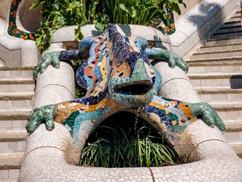 Lizard - the symbol of Barcelona