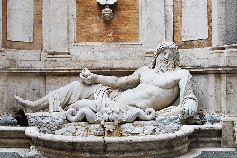 "One of the ""talking statues"", Rome"