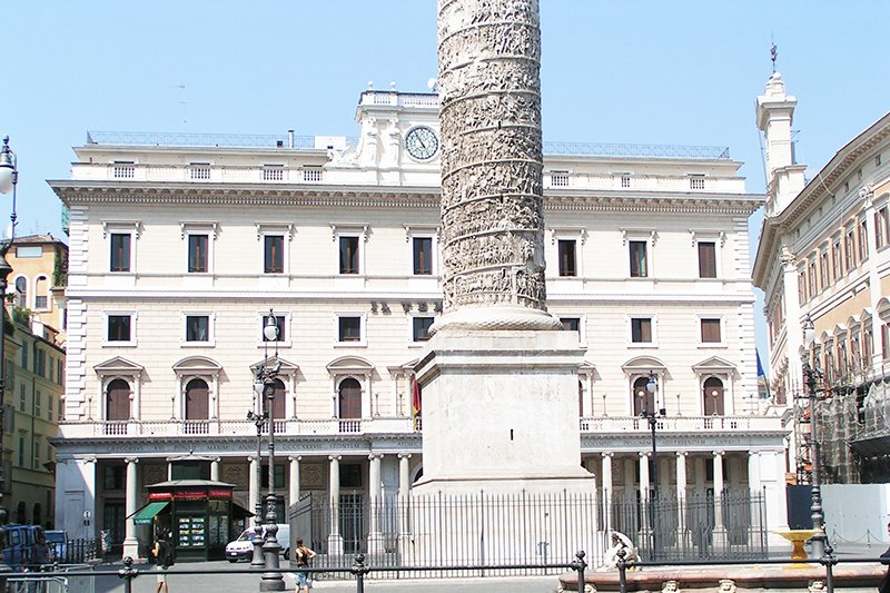 Column of Marcus Aurelius on Piazza Colonna, Rome
