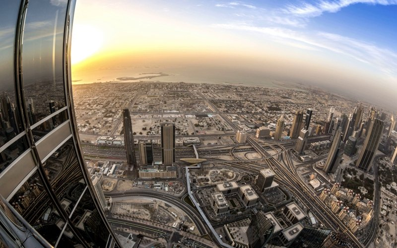 View from the observation deck, Dubai