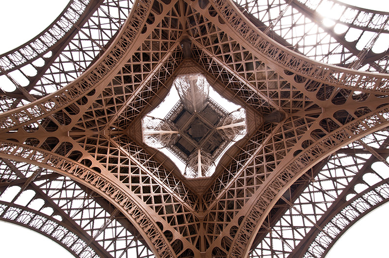 Bottom view of the Eiffel Tower