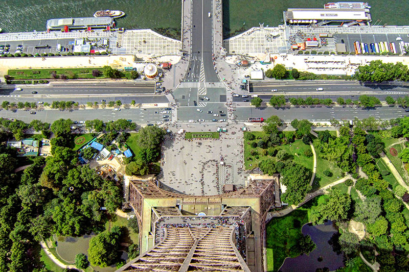 Eiffel Tower, view from the top
