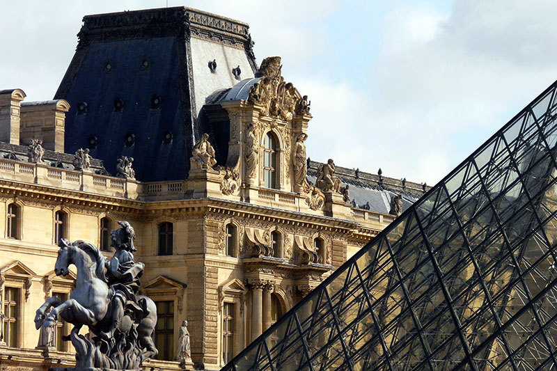The Louvre Museum from outside