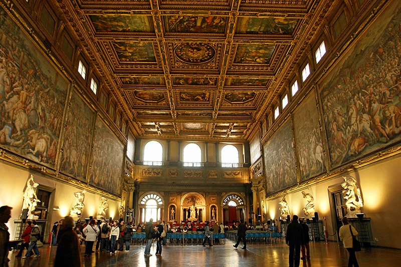 The Hall of the Five Hundred in Palazzo Vecchio