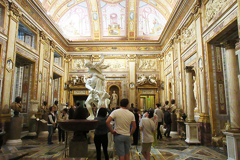 Inside the Borghese Gallery