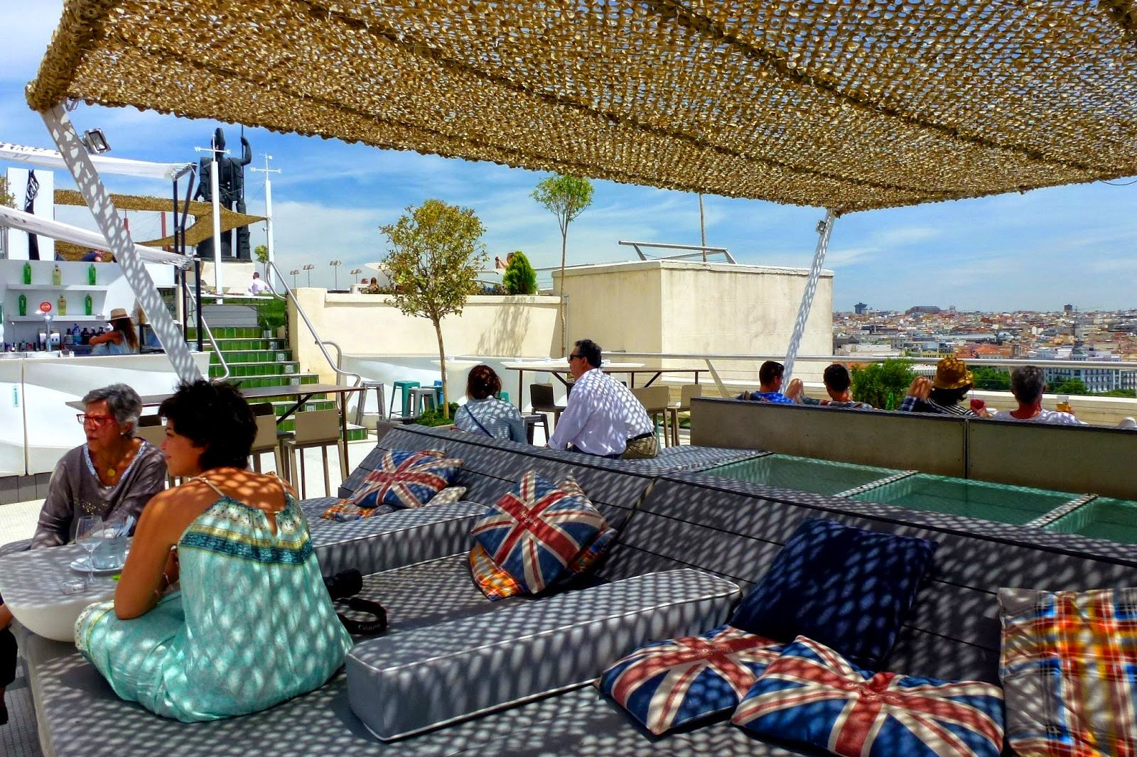 How to drink coffee on the terrace with the best views of Madrid in Madrid