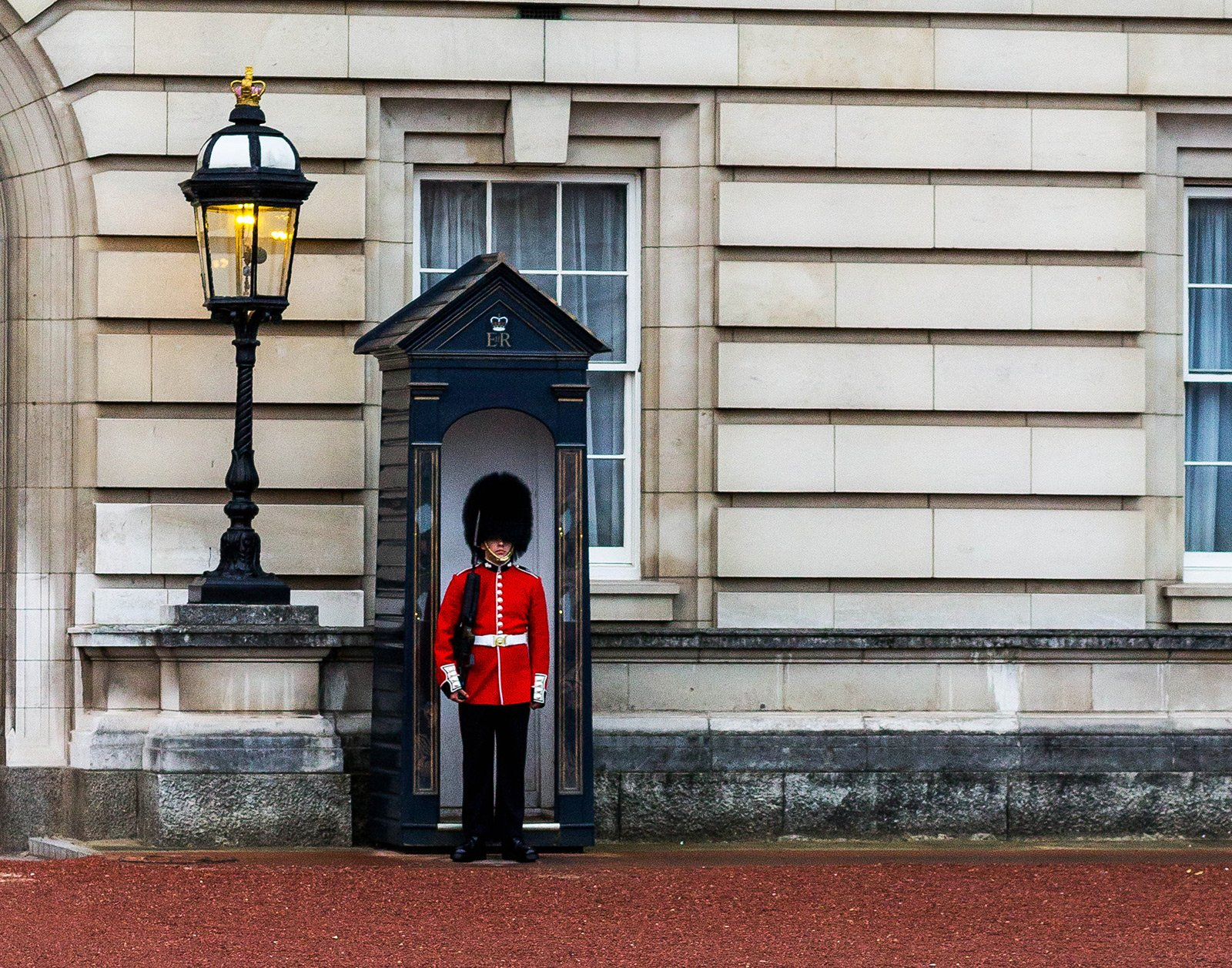 How to make british guard laugh in London