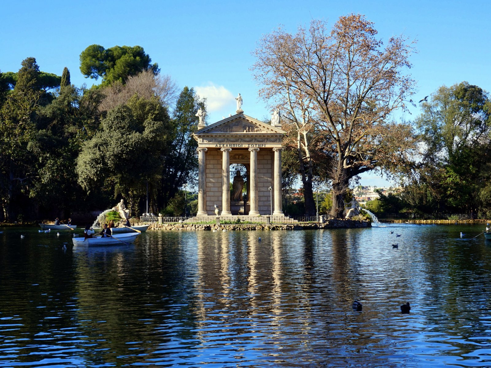 How to go boating around the Temple of Asclepius in Rome