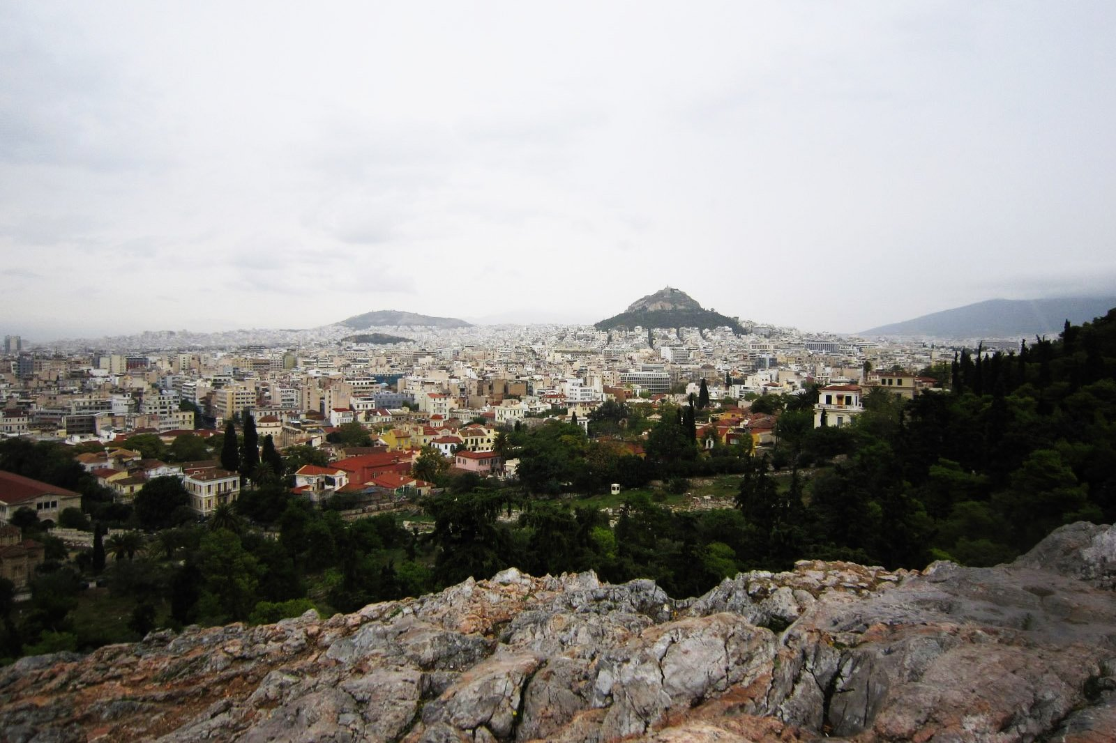 How to see Athens from the top of the Areopagus Hill in Athens