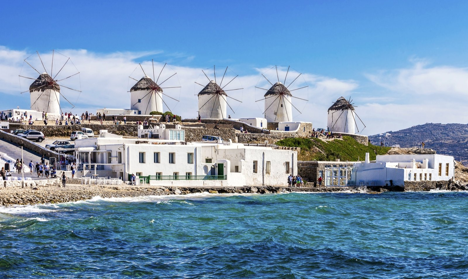 How to see the windmills on Mykonos