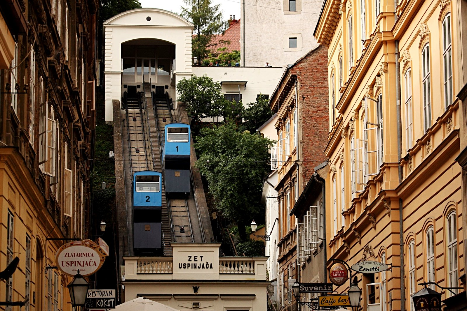 How to climb to the Gornji Grad on the funicular in Zagreb